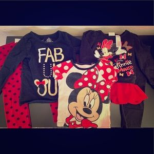 5 PC Minnie Mouse Outfit Combo